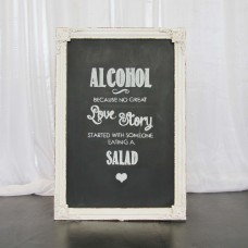Harrisons Hiremaster Wanganui Party Hire Cream Picture Frame Blackboard