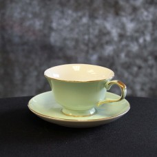 Harrisons Hiremaster Wanganui Catering Hire Green Cup and Saucer