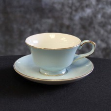 Harrisons Hiremaster Wanganui Catering Hire Blue Cup and Saucer