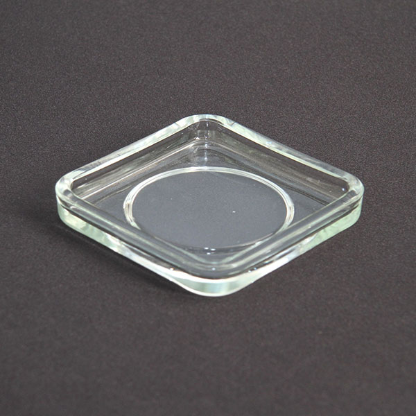 Candle Plate Square Glass