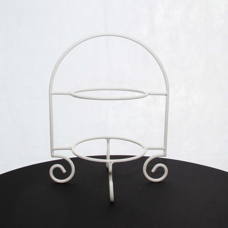 White Cake Plate Stand (2 tier)