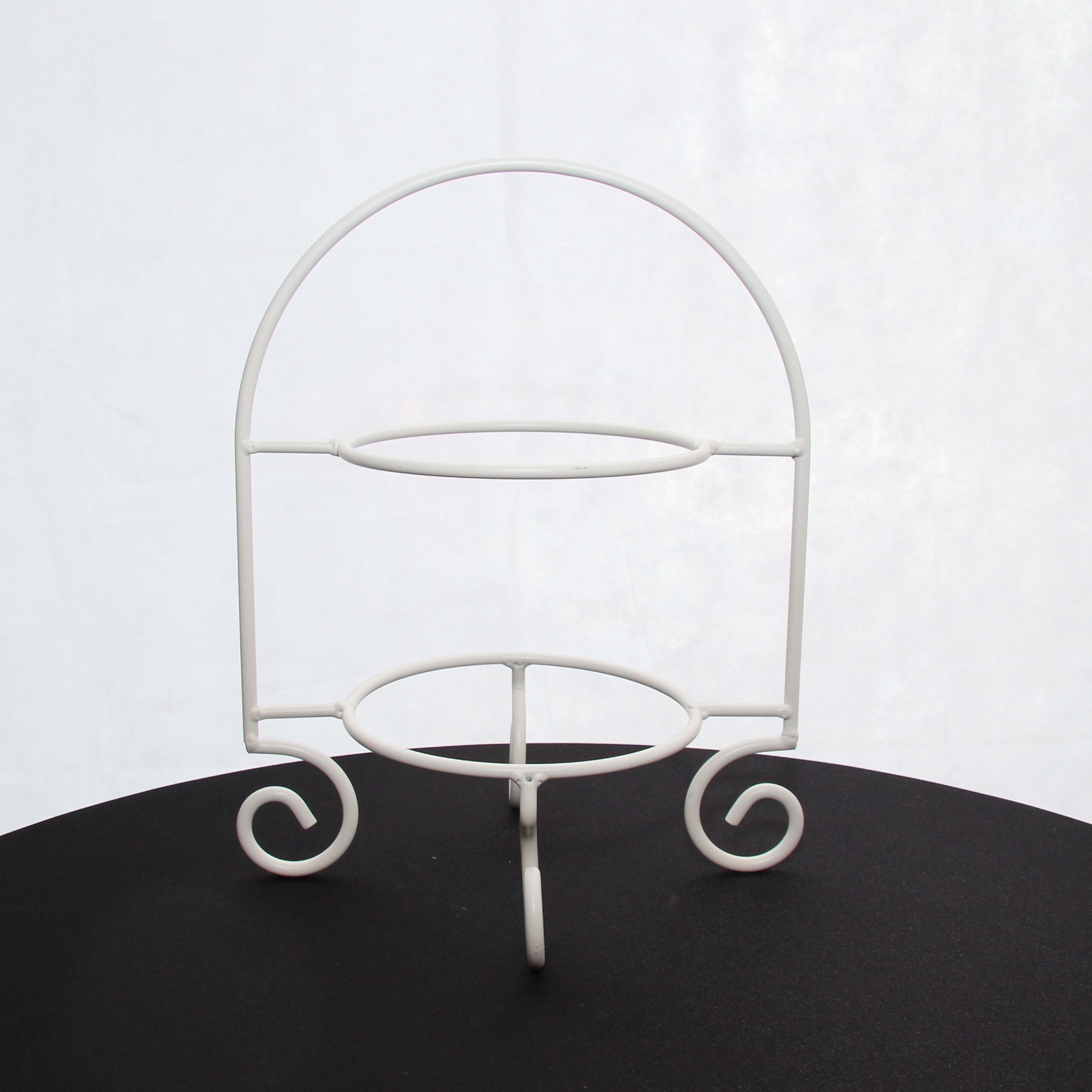 Cake Plate Stand 2 Tier White 43cm H Harrisons
