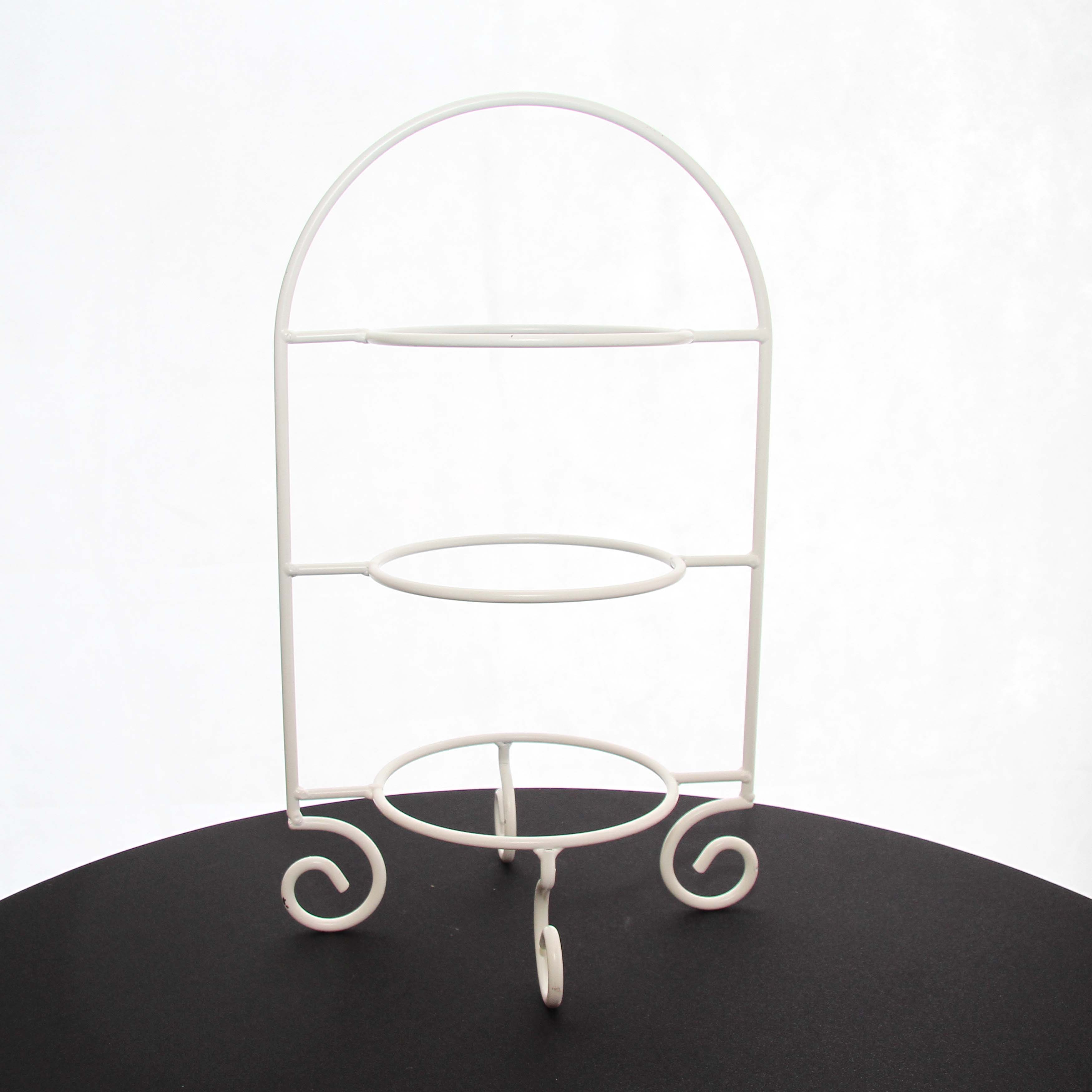 Cake Plate Stand 3 Tier White 55cm H Harrisons