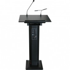 Lectern with Microphone and Light