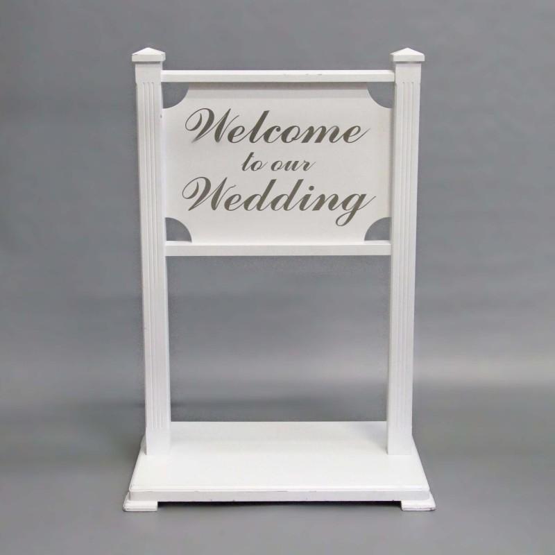 Harrisons Hiremaster Wanganui Party Hire Silver Wedding Sign