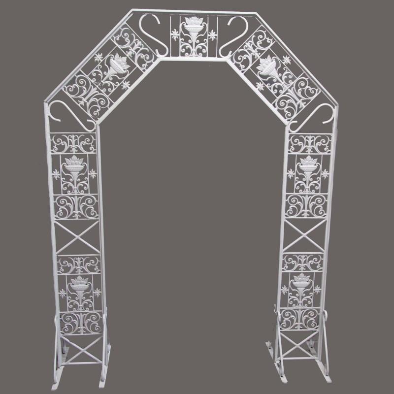 Harrisons Hiremaster Wanganui Party Hire White Wrought Iron Wedding Arch