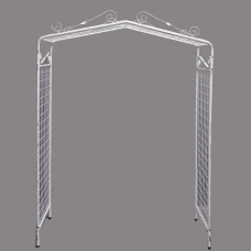 Harrisons Hiremaster Wanganui Party Hire White Metal Wedding Arch